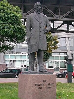 William Lindley - Statue of William Lindley in Hamburg-Neustadt, 2008