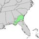 Pinckneya bracteata range map 1.png