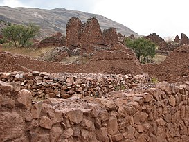 Piquillacta Archaeological site - building.jpg