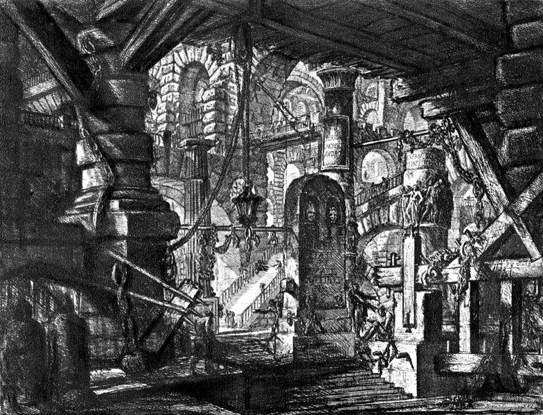 Giovanni Battista Piranesi (1720-1778): Carceri Platte XVI