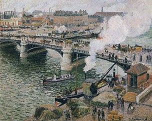Pont Boieldieu in Rouen, Rainy Weather