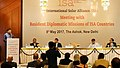 Piyush Goyal addressing at the Meeting with the Resident Diplomatic Missions of International Solar Alliance (ISA) Countries, in New Delhi on May 08, 2017, The Secretary, Ministry of New & Renewable Energy.jpg