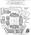 Plan of St. Bartholomew's hospital, London, 1893. Wellcome L0011767.jpg