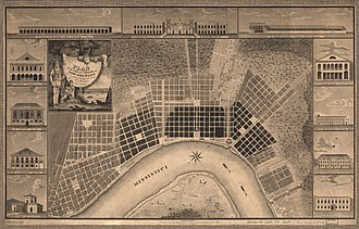 New Orleans - Plan of the city and suburbs of New Orleans : from a survey made in 1815