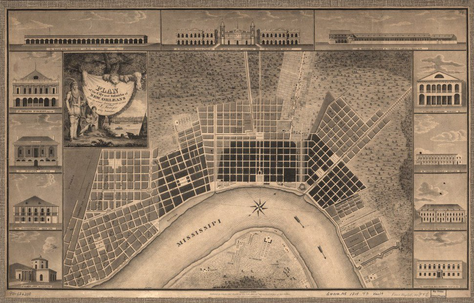 Plan of the city and suburbs of New Orleans