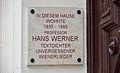 Plaque Hans Werner, Währinger Straße 68.jpg