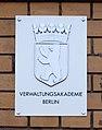 Plaque Verwaltungsakademie, Berlin (DSC04705).jpg
