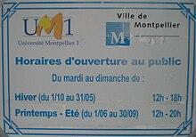 Jardin des plantes de montpellier wikip dia - Jardin des plantes angers horaires ...