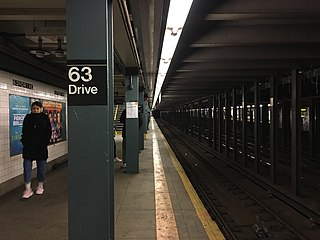 63rd Drive–Rego Park station New York City Subway station in Queens