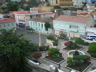 Ribeira Brava, Cape Verde - Town square in Ribeira Brava