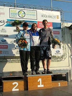 Sarah Walker (BMX rider) - Walker (right) at the 2007 Supercross World Cup