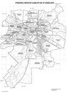 Podzial Administracyjny Lublina Wikipedia Wolna Encyklopedia