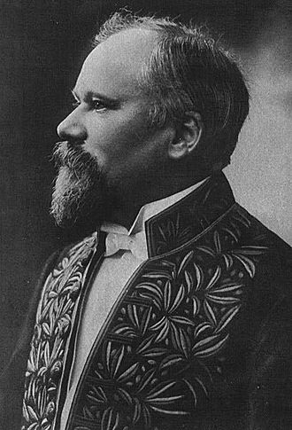 Académie française - Raymond Poincaré was one of the five French heads of state who became members of the Académie française. He is depicted wearing the habit vert, or green habit, of the Académie.