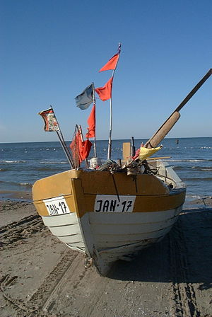 Poland Jantar - fishing boat on see shore.jpg