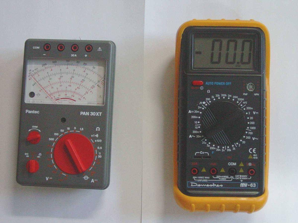 Electrnica Y Circuitos El Multimetro Digital Su Testing Circuit With Multimeter Stock Image 20315121