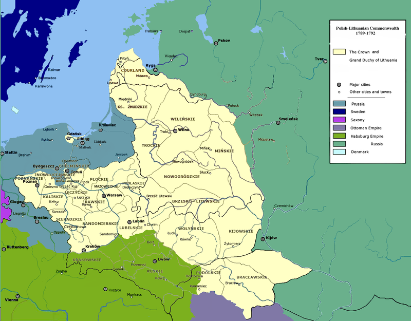 Polish-Lithuanian Commonwealth 1789-1792