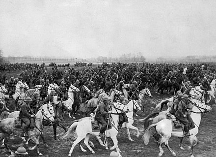 Polish Cavalry during a Polish Army manoeuvre in late 1930s. PolishCavalryAttack.jpg