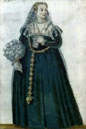 Pomander - Venetian woman with a pomander