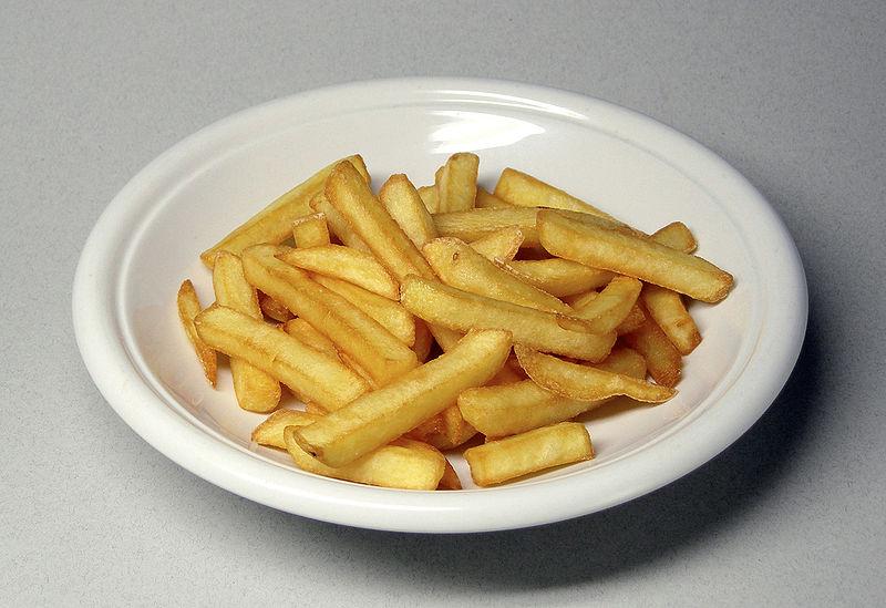 illustration Invention de la frite !