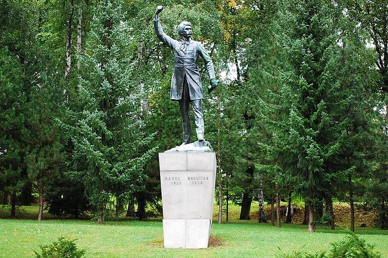 File:Pomník Karla Havlíčka Borovského (Havlíčkův Brod), městský park Budoucnost, Havlíčkův Brod.jpg