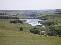 Pond on Sedyak river beside village Sedyakbash 02.jpg