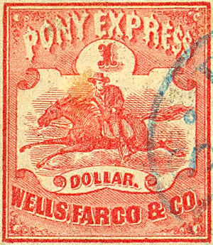 Pony Express Stamp, 1860