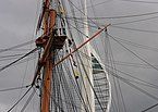 Portsmouth MMB 44 Royal Naval Dockyard - HMS Warrior and the Spinnaker.jpg