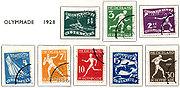 Postzegel 1928 olympiade