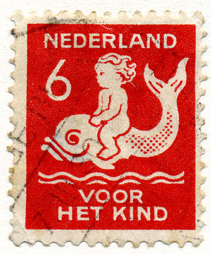 Harm Kamerlingh Onnes - 6 cents stamp for the child, 1929.