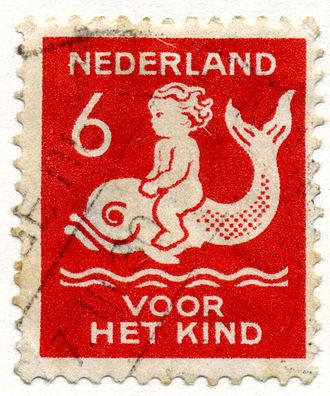 Harm Kamerlingh Onnes - 6 cents stamp for the child, 1929.