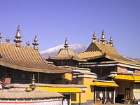 Historical ensemble Potala Palace in Lhasa