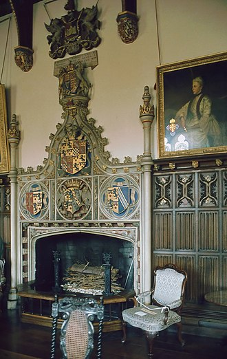 William Courtenay, 11th Earl of Devon - The heraldic chimneypiece at Powderham Castle