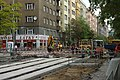 Praha, Holešovice, Komunardů, rekonstrukce tramvajové trati.jpg
