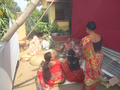 Prasad of Maha Astami arrangement by village ladies.png