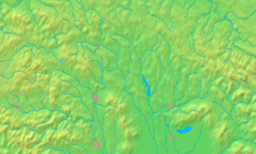 Location in the Prešov Region (core zone in darker green, buffer zone in lighter green)
