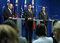 Predsednik Vlade RS Borut Pahor, minister za razvoj in evropske zadeve mag. Mitja Gaspari in minister za finance dr. Franc Križanič 2010-05-06.jpg