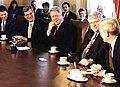 President Bill Clinton meeting with congressional leaders in the Cabinet Room.jpg
