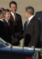 President George W. Bush is greeted by Congressman Jim DeMint.png