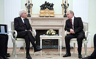 Sergio Mattarella - Mattarella and Russian President Vladimir Putin in Moscow, April 2017