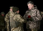 President of Ukraine Petro Poroshenko congratulated Ukrainian warriors on New Year and Christmas and heard the report on the situation in the ATO area, 31 December 2016 (27).jpg