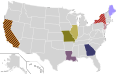 Presidential Candidate Home State Locator Map, 1980 (United States of America) (Expanded).png