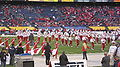 Pride of Utah performing pregame at 2009 Poinsettia Bowl 6.JPG