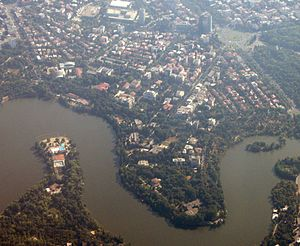Primăverii - Primăverii, aerial view