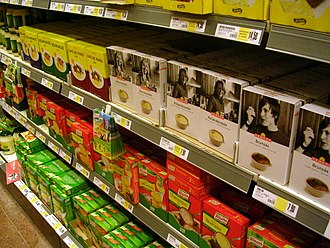 Private label - Image: Private label products in Swedish Hemköp store