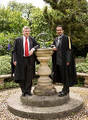Professor Sir Richard Evans, President of Wolfson College, Cambridge; HE Mahfouz Marei Mubarak bin Mahfouz, Lord and Baron of Abernethy, GCMLJ, FRSA.png