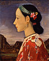Profile of a Woman by Fujishima Takeji (Pola Museum of Art).jpg