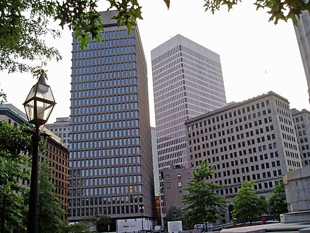 Textron's headquarters in the company of One Financial Plaza and the Rhode Island Hospital Trust building Providencetextronside.JPG