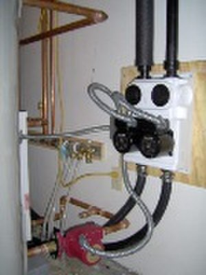 Geothermal heat pump - An installed liquid pump pack