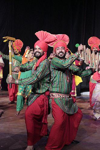 Bhangra (dance) - Image: Punjabi Folk dance Gaidda Boliya and Bhangara 37