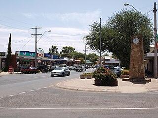 Cobram Town in Victoria, Australia